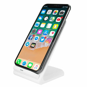 Fast Wireless Charging Pad Stand (7.5W Apple / 10W Samsung) - White - MyPhoneCase.com