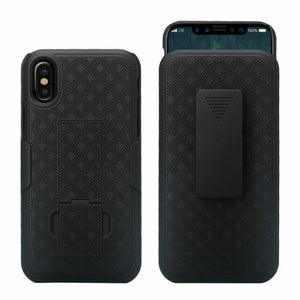 Verizon iPhone XS MAX Fitted Shell Case Rugged Holster Belt Clip - MyPhoneCase.com