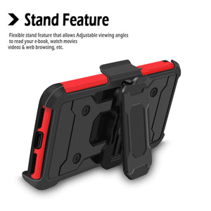 Trio Pro Tough Armor Holster iPhone 7 Plus / 8 Plus Case - Red - MyPhoneCase.com
