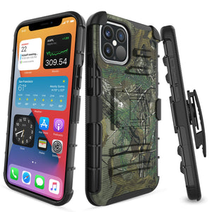 Advanced Armor Kickstand iPhone 12 / 12 Pro Case Holster - MyPhoneCase.com