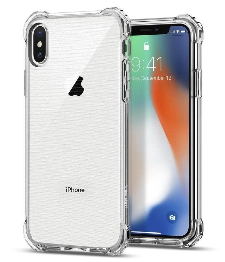 MPC iPhone X Crystal Bumper Anti-Slip Shockproof Case - Clear - MyPhoneCase.com