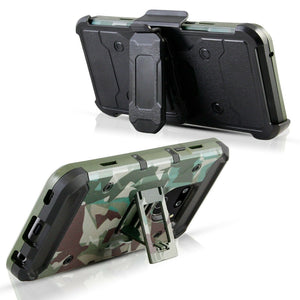 Heavy Duty Shockproof Armor LG G8 ThinQ Case Holster - Camo - MyPhoneCase.com