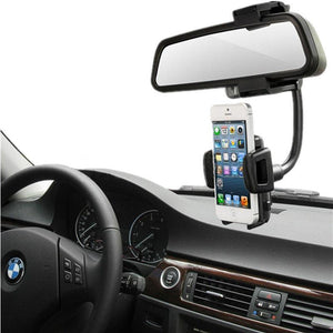 Car Rear View Mirror Mount Cell Phone Holder Stand Cradle - MyPhoneCase.com