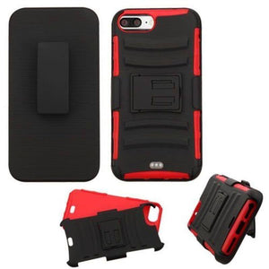 Advanced Armor Holster iPhone 7 Plus / 8 Plus Case - Red - MyPhoneCase.com