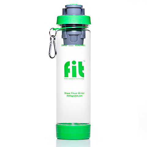 FIT Top Filtered Water Bottle 24oz Clear Green