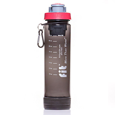 FIT Top Filtered Water Bottle 24oz Smoke Red