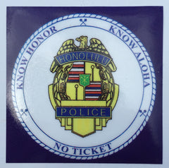 Know Aloha HPD Sticker