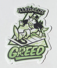 Illegalize Greed Sticker