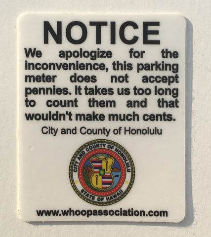 Parking Meter Sticker