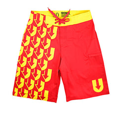 Red/Yellow UPattern Shorts