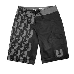 Black/Grey UPattern Shorts