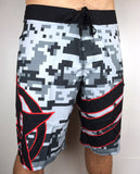 "UDown ""Digi"" Board Shorts (neutral/red)"