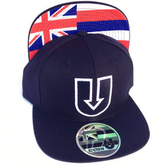 UDown Raised Embroidery Black SnapBack Hat