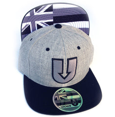UDown Raised Embroidery Heather Grey SnapBack Hat