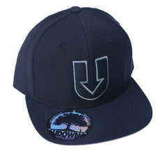 UDown Raised Embroidery Hat -black/dark greys-