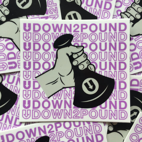 UDown2Pound printed Sticker