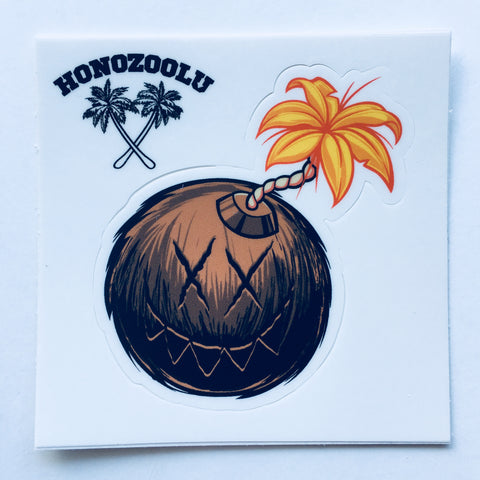 Coconut Bomb cutout sticker