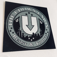 UDown Union membership sticker