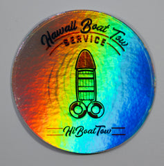 Boat Tow Holographic sticker