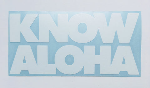 Know Aloha one-color