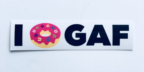 I Doughnut GAF Sticker