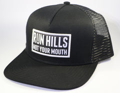 Run Hills Black Trucker Hat