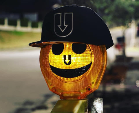Lit Smiley Face Sticker