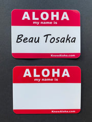 """Aloha my name is"" stickers"