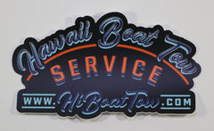 Die cut Boat Tow Service Sticker