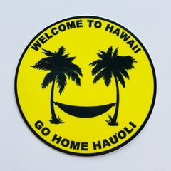 Welcome to Hawaii circle sticker