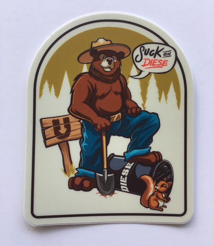 "Smokey ""suck on diese"" sticker"