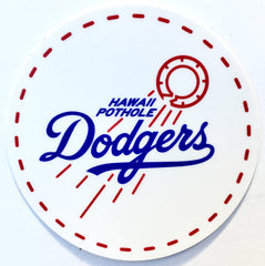 Hawaii Pothole Dodgers Sticker