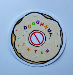 Doughnut Enter sticker