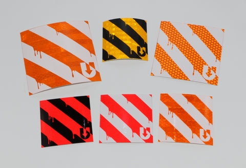 Reflective dripping Barricade stickers