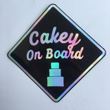 Cakey On Board diamond sign sticker