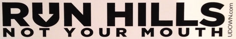 Run Hills Bumper Sticker