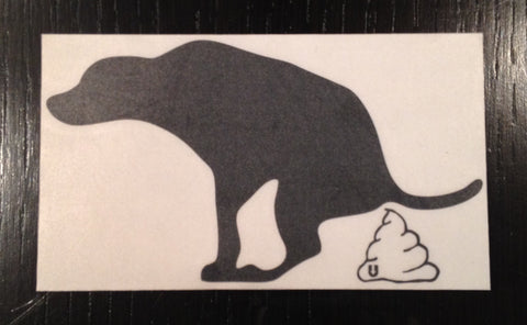 Dog Poo Sticker