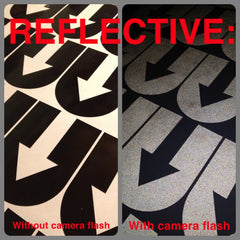 Reflective U Stickers