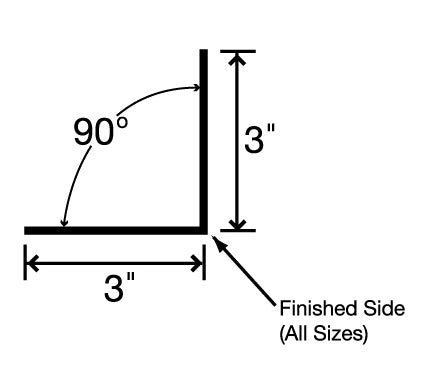 #256 10' Angle Trim 3 x 3 with Hems
