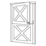 4'0 x 7'0 Dutch Door 2500