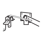 "7"" Jamb Latch, Adjustable"