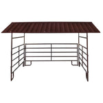 HBHSE 12' x 12' Horse Shelter for steel roof panel