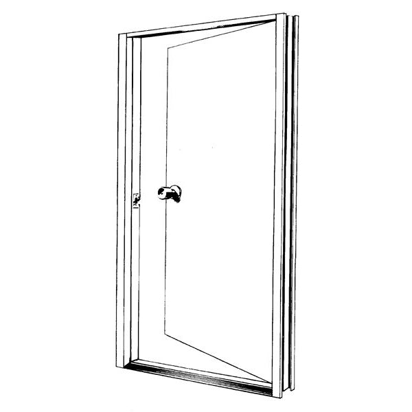 1872 Aluminum 4068 White Door