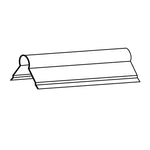 "#202 2"" Plain Ridge Roll 10' Galvanized"