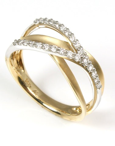 Two Tone Gold and Diamond Orbit Ring by Allison Kaufman