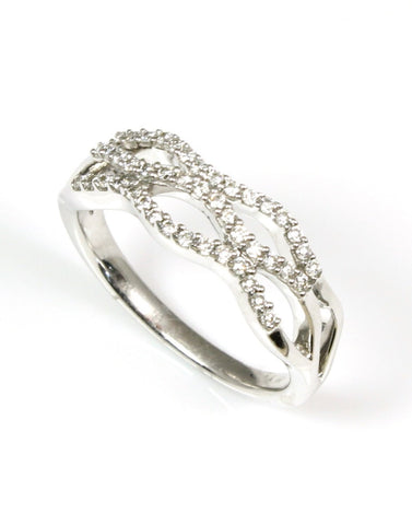 Diamond Pave Wave Ring by Allison Kaufman