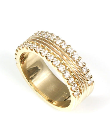 Diamond Double Row Anniversary Band by Allison Kaufman