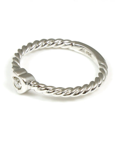 Diamond Heart Twist Ring by Allison Kaufman