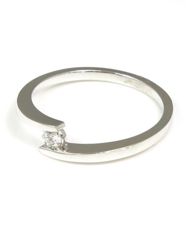 Diamond Bypass Fashion Ring