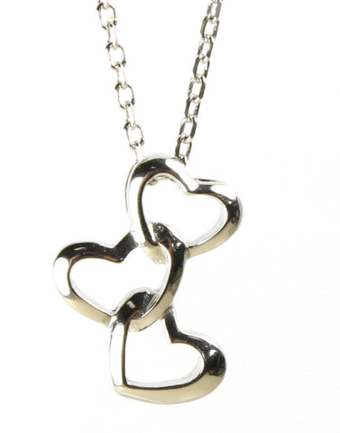 Three Polished Hearts Pendant